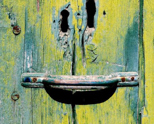 Lächelnde Tür